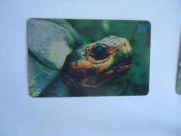BRAZIL USED CARDS ANIMALS TURTLES - Tartarughe