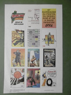 Vignettes BD Bédéciné 1994 ILLZACH 10è Anniversaire Du Festival Du Dessin Animé Et De La Bande Dessinée - 68 HAUT-RHIN - Cómics