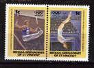 BEQUIA  N° 19  ( 2 Valeurs) * *  Jo 1984  Gymnastique Anneaux - Gimnasia