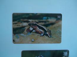 BRAZIL USED CARDS ANIMALS  FROG - Non Classificati