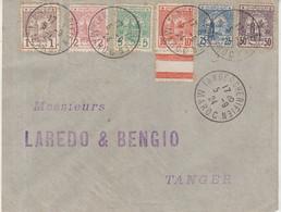 "MAROC : N° 9 A N° 14 . "" TANGER "" . 1924 . - Covers & Documents"