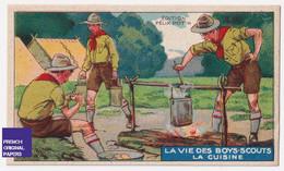 Chromo / Image Félix Potin - Vie Des Boys-Scouts - Boy Scout Scoutisme Enfant Cuisine Feu De Camps Camping Tente A53-30 - Other
