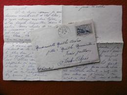 LETTRE CACHET KROUBS CONSTANTINE TIMBRE CENTENAIRE PHILIPPEVILLE VIA SOUK AHRAS ALGERIE 1938 - Brieven En Documenten