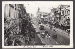 Pakistan, KARACHI Bunder Road- Real Photo Postcard - Pakistan