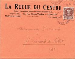 ENVELOPPE  A EN-TETE LA RUCHE DU CENTRE LIMOGES - 1921-1960: Modern Tijdperk