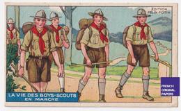 Chromo / Image Félix Potin - Vie Des Boys-Scouts - Boy Scout Scoutisme Enfant Marche Sport Randonnée A53-33 - Félix Potin