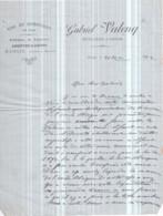 Vins Et Spiritueux, ABSINTHE Et SIROPS Gabriel VALENQ à NANGIS - Distillerie à Vapeur - Lettre De 1892 - Invoices