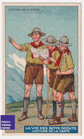 Chromo / Image Félix Potin -Vie Des Boys-Scouts - Boy Scout Scoutisme Sport Course D'orientation Lecture De Carte A53-38 - Félix Potin