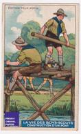 Chromo / Image Félix Potin -Vie Des Boys-Scouts - Boy Scout Scoutisme Construction D'un Pont Génie Enfant A53-39 - Félix Potin
