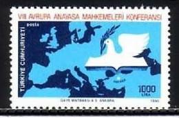 TÜRKEI MI-NR. 2888 POSTFRISCH(MINT) MITLÄUFER 1990 KONFERENZ DER VERFASSUNGSGERICHTE - Europese Gedachte