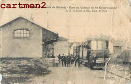 RARE CPA : CHATENOIS GARE DU CHEMIN DE FER DEPARTEMENTAL J.B. SCHMITT BELFORT ( EN ETAT) 90 - Châtenois-les-Forges