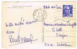CPSM ADRESSEE DE BEZIERS A SAIGON - 1921-1960: Modern Period