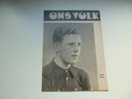 """Origineel Knipsel ( 4373 ) Uit Tijdschrift """" Ons Volk """" 1937 :  Wielrenner  Coureur  Renner  Lucien Storme  Nieuwkerke - Non Classés"""