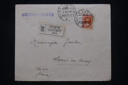 VATICAN - Enveloppe En Recommandé  Pour La France En 1929 - L 100652 - Lettres & Documents