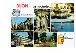 Cpm - 21 - DIJON - Multivues / Pot De Moutarde / Pot De Chambre / Faculté De Sciences - Lac Kir - Cim C 212310000020 - Dijon