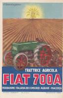 Pubblicitarie - Fiat 700 A  - Trattrice Agricola - F. Piccolo  - Nuova - Molto Bella - Firmata Mauzan - Advertising