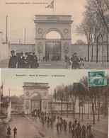 2 CPA:ROCHEFORT (17) PORTE DE L'ARSENAL LA DÉBAUCHÉE (COULEUR TOILÉE),ROCHEFORT SUR MER PORTE DU SOLEIL - Rochefort