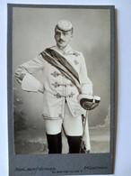 CDV Étudiant Uniforme De Son Club Universitaire - Escrimeur - Épée Masque De Protection - 1890 - MUNICH TBE - Old (before 1900)