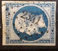 Empire No 14 B Obl Pc 2341 De LES ORMES SUR VIENNE,  Vienne  , Indice 7, TB - 1853-1860 Napoleon III