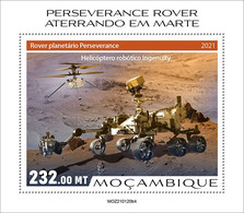 MOZAMBIQUE 2021 - Perseverance, Helicopter. Official Issue [MOZ210120b4] - Helicopters