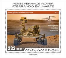 MOZAMBIQUE 2021 - Perseverance, Helicopter. Official Issue [MOZ210120b1] - Helicopters