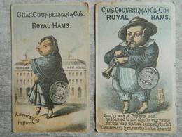 """LOT DE 2 CHROMOS """" ROYAL HAMS """"      CHAS. COUNSELMAN ET CO'S - Sonstige"""