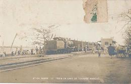 TOURANE - CARTE PHOTO - N° 104 - LE TRAIN EN GARE DE TOURANE-MARCHE - Vietnam
