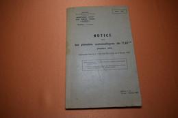 NOTICE PISTOLET AUTOMATIQUE MOD 35, 7.65 DE 1967 - French