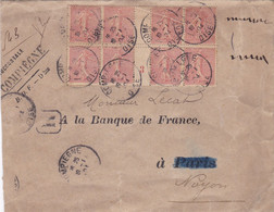FRANCE ,,,MILLESIME Sur Lettre , Scans Recto Et Verso - Millésimes