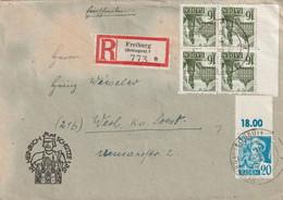 Toller R - Brief Alliierte Besetzung Baden Freiburg 5.6.1948 - Franse Zone
