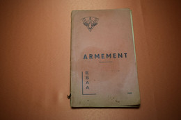1956, NOTICE ARMEMENT ESA - French