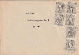 Toller Brief Alliierte Besetzung AM Post Scheidingen Vom 25.2.1946 Mehrfachfrankatur - Amerikaanse, Britse-en Russische Zone