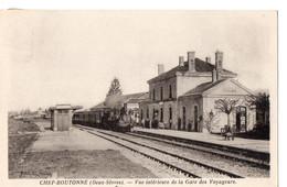 CHEF BOUTONNE (Deux-Sèvres) - Vue Intérieure De La Gare Des Voyageurs - Chef Boutonne