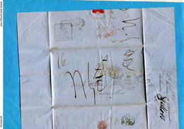 Marcophilie-lettre ST HELENE-1856>Marseille-ship Letter London+dos Liverpool+cachet  Rougecolonies+amb Calais - 1849-1876: Klassieke Periode