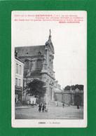 59 CAMBRAI LA BASILIQUE Animation CPA Année 1917 Offert Par La Maison DESPINOY (Bêtises De Cambrai) Pub Sur La Carte - Cambrai
