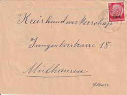 France Alsace Occupation Allemande Lettre Hegenheim 1941 - Alsace Lorraine