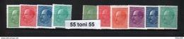 1941-45 Tsar BORIS III Yvert Nr.377/385 ( Filigram + Sans Filigram )10v.- MNH  Bulgaria /Bulgarie - Ungebraucht