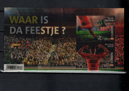 Belgium 2021 Football Soccer European Championship 3-D S/s MNH - Europei Di Calcio (UEFA)
