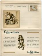 """ALGERIE CARTE LETTRE  NEUVE COMPLETE ILLUSTREE SUR LE THEME DE """" L'ARTISANAT INDIGENE """" LA BIJOUTERIE INDIGENE - Covers & Documents"""