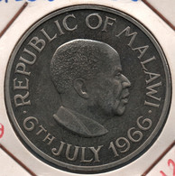 MALAWI 1 CROWN 6July 1966  KM# 5 Declaration Of The Republic Of Malawi Hastings Kamuzu Banda - Malawi