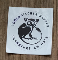 AUTOCOLLANT  STICKER - ZOOLOGISCHER GARTEN - FRANKFURT AM MAIN - PARC JARDIN ZOOLOGIQUE - FRANCFORT - ALLEMAGNE - Stickers