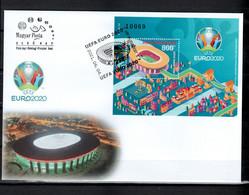 Hungary 2021 Football Soccer European Championship S/s On FDC - Europei Di Calcio (UEFA)