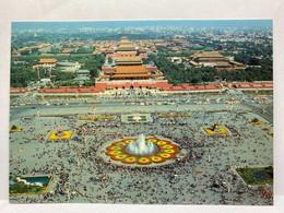 Bird's Eye View Of Tian An Men Square In Holiday, Tiananmen, Beijing, China Postcard - Chine