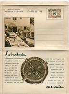 """ALGERIE CARTE LETTRE NEUVE ILLUSTREE SUR LE THEME DE """" L'ARTISANAT INDIGENE """" LA BRODERIE SUR CUIR - Covers & Documents"""