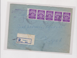 YUGOSLAVIA, 1965 SARAJEVO Registered Cover Used With Postage Due Instead Franco Stamps - Lettres & Documents