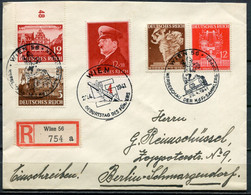 """German Empires/Österreich 1941 Reco Bedarfsbrief M.Mi.Nr.772,768,770 U.3 WIENER SST""""Wien-Führers Geburtstag..."""" 1Beleg - Lettres & Documents"""