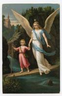 L'ange Gardien, Petite Fille En Danger, - Engelen