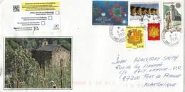 Lettre D'Andorre Adressée En Martinique Pendant Confinement Covid-19, Retour Non Réclamé, 2 Photos Recto-verso - Storia Postale