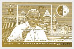 Armenia 2016 MS - Pope Francis Visit To Armenia - (Deluxe Proof M/S) - Armenia