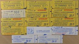 France 14 Carnets à Composition Variable Neufs ** MNH Années 1980/1990. TB. A Saisir! - Definitives